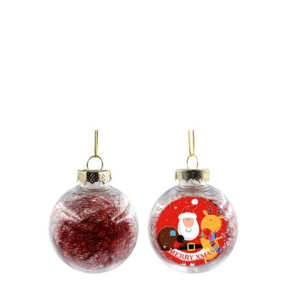 Picture of XMAS BALL - CLEAR/RED- Diam. 6cm