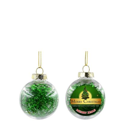 Picture of XMAS BALL - CLEAR/GREEN- Diam. 6cm