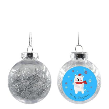 Picture of XMAS BALL - CLEAR/SILVER- Diam. 8cm
