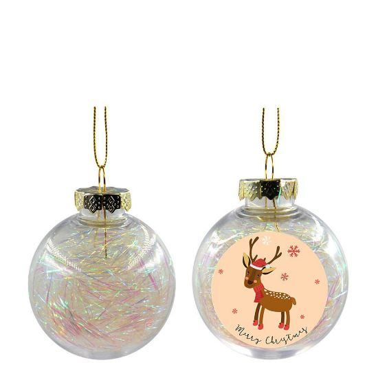 Picture of XMAS BALL - CLEAR/WHITE- Diam. 8cm