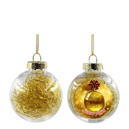 Picture of XMAS BALL - CLEAR/GOLD- Diam. 8cm