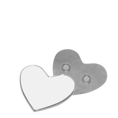 Εικόνα της FRIDGE MAGNET (METAL) -HEART         diam.6.0