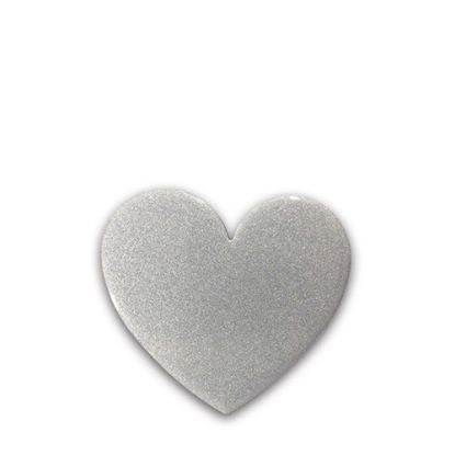 Picture of FRIDGE MAGNET -ALUM. (SILVER) HEART 6.2x5.5