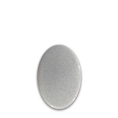 Picture of FRIDGE MAGNET -ALUM. (SILVER) OVAL 4.5x5.8