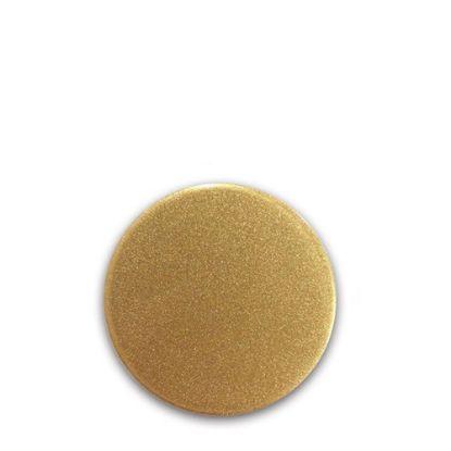 Picture of FRIDGE MAGNET -ALUM. (GOLD) ROUND 5.8x5.8