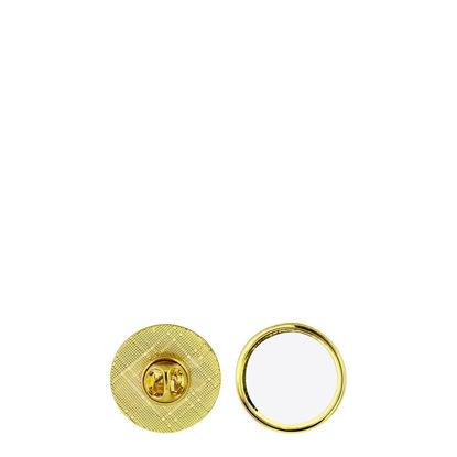 Εικόνα της Name Badge - PIN metal (round) 2.5cm GOLD