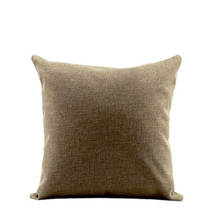 Picture of PILLOW - COVER (LINEN brown mid) 40x40cm