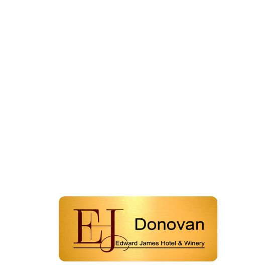 Picture of NAME BADGE (Alum.) GOLD GLOSS - 3.18x7.62