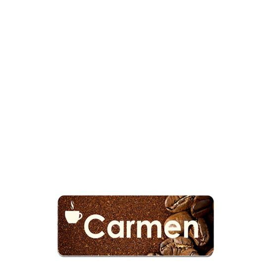 Picture of NAME BADGE (Alum.) WHITE GLOSS - 3.81x7.62