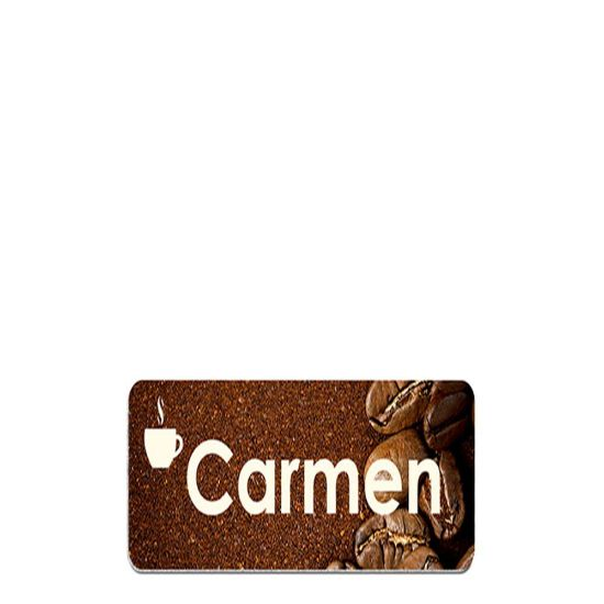 Picture of NAME BADGE (Alum.) WHITE GLOSS - 5.08x7.62