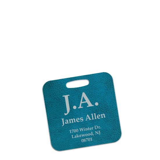 Picture of BAG TAG (Alum.2s) WH.SEMI-GLOSS (SQUARE)