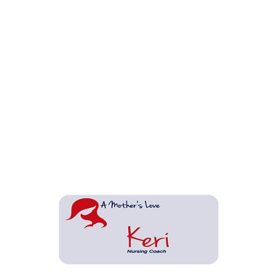 Picture of NAME BADGE (Plast.) WHITE GLOSS- 3.18x7.62