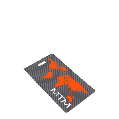 Εικόνα της BAG TAG (Plast.2s) WHITE GLOSS- 6.35x10.79