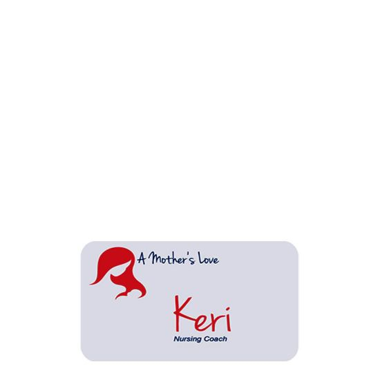 Picture of NAME BADGE (Plast.) WHITE GLOSS- 3.81x7.62