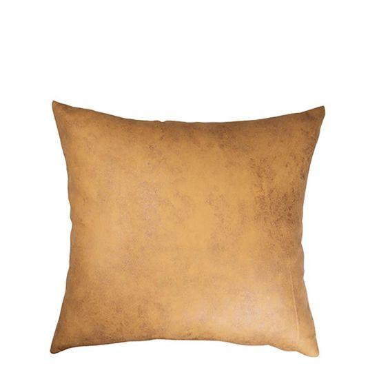 Εικόνα της Pillow Cover (40x40cm) Leathaire Yellow Dark