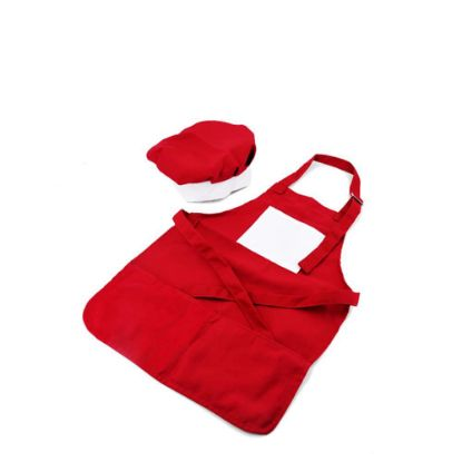 Picture of APRON (RED kids) with CHEF CAP - LARGE