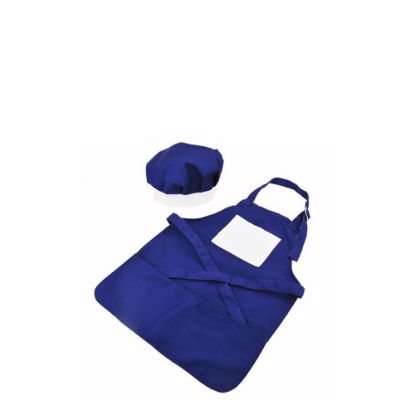 Picture of APRON (BLUE kids) with CHEF CAP - SMALL