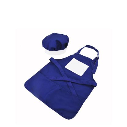 Picture of APRON (BLUE kids) with CHEF CAP - LARGE