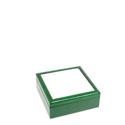 Picture of JEWELRY BOX - GREEN - 182x182x70mm