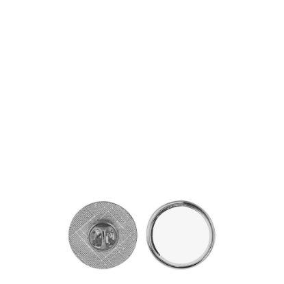 Εικόνα της Name Badge - PIN metal (round) 2.5cm SILVER