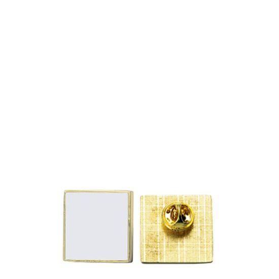 Εικόνα της Name Badge - PIN metal (square) 2.5x2.5cm GOLD