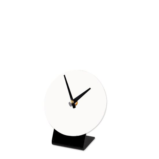 Picture of TABLE CLOCK (PLASTIC) WH.GLOSS diam.12.07