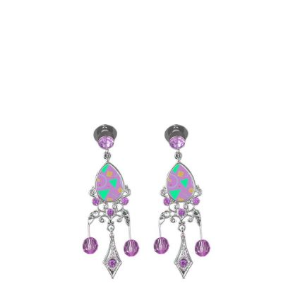 Picture of EAR RING - METAL (Zinc-Alloy) drop pink