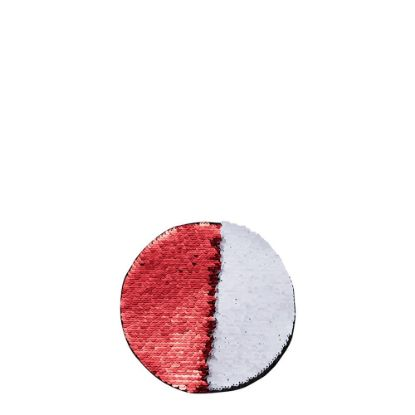 Picture of ROUND ADHESIVE sequin (RED) D.10cm