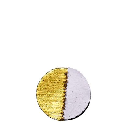 Picture of ROUND ADHESIVE sequin (GOLD) D.10cm
