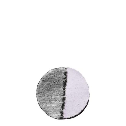 Picture of ROUND ADHESIVE sequin (SILVER) D.10cm