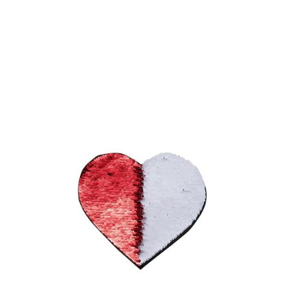 Picture of HEART ADHESIVE sequin (RED)10.5x12 cm