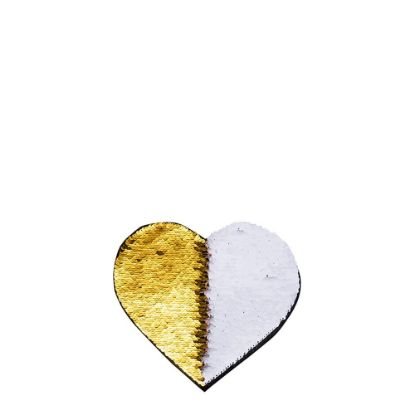 Picture of HEART ADHESIVE sequin (GOLD)10.5x12 cm
