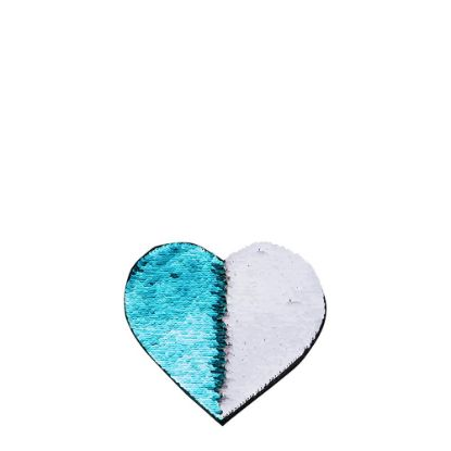 Picture of HEART ADHESIVE sequin (BLUE LIGHT)10.5x12 cm