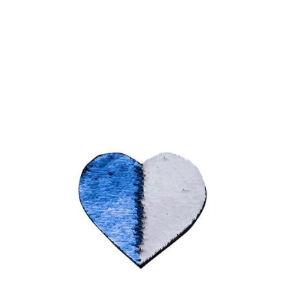 Picture of HEART ADHESIVE sequin (BLUE DARK)10.5x12 cm
