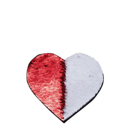 Picture of HEART ADHESIVE sequin (RED)19x22cm