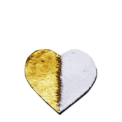 Picture of HEART ADHESIVE sequin (GOLD)19x22cm