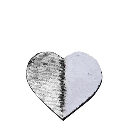 Picture of HEART ADHESIVE sequin (SILVER)19x22cm