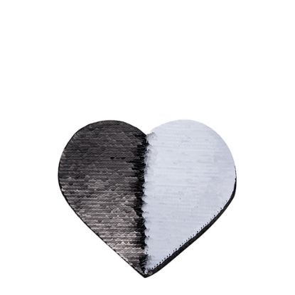 Picture of HEART ADHESIVE sequin (BLACK)19x22cm