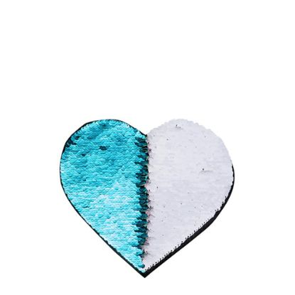 Picture of HEART ADHESIVE sequin (BLUE light)19x22cm