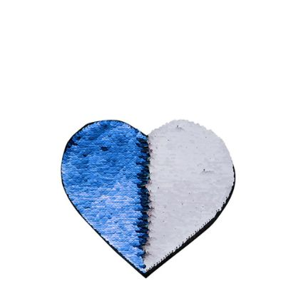 Picture of HEART ADHESIVE sequin (BLUE dark)19x22cm