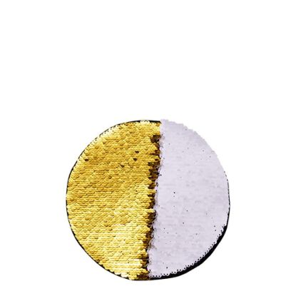 Picture of ROUND ADHESIVE sequin (GOLD) D.19cm
