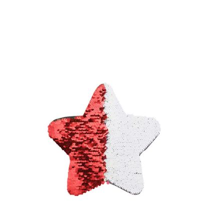 Picture of STAR ADHESIVE sequin (RED) 18x18cm