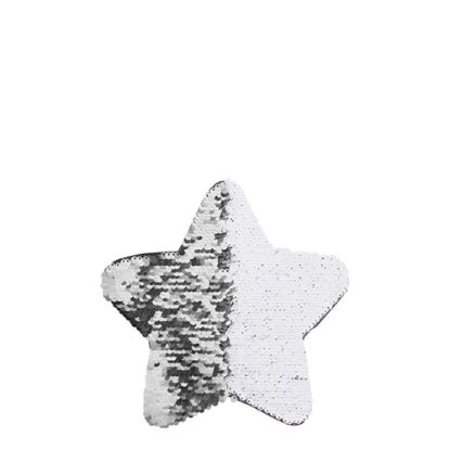 Picture of STAR ADHESIVE sequin (SILVER) 18x18cm