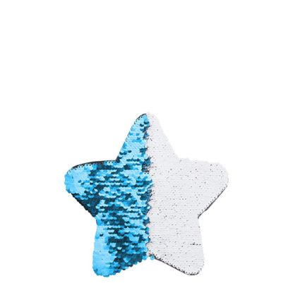 Picture of STAR ADHESIVE sequin (BLUE LIGHT) 18x18cm