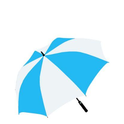 """Εικόνα της UMBRELLA - WHITE/BLUE (100% Polyester) 30"""""""