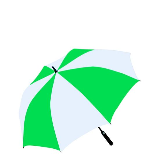 """Picture of UMBRELLA - WHITE/GREEN (100% Polyester) 30"""""""