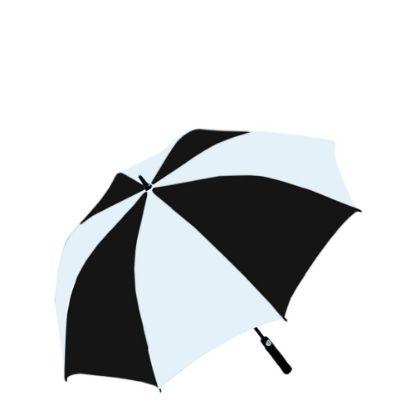 "Picture of UMBRELLA - WHITE/BLACK (100% Polyester) 30"""