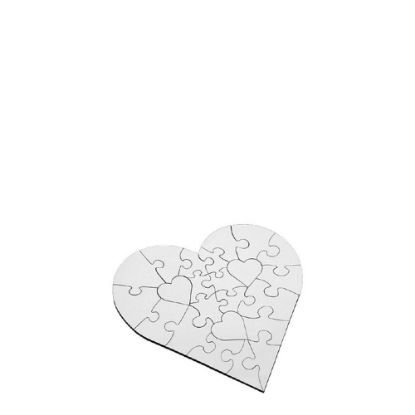 Picture of PUZZLE HB (UNISUB)-HEART(25pcs) WH.GLOSS-Diam.17