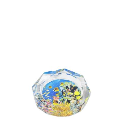Picture of ASHTRAY crystal 10x10x2.5cm OCTAGON