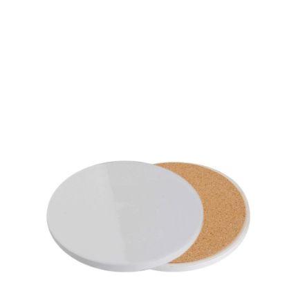 Εικόνα της COASTER (SANDSTONE+cork) ROUND 10.8 gloss